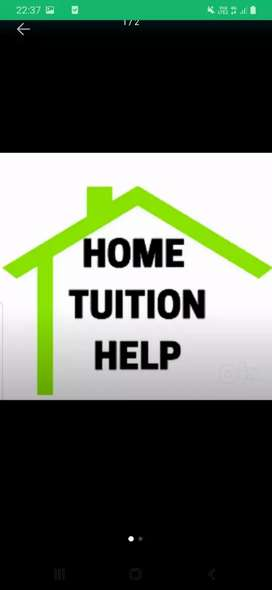 Home tution for class nursery to 10th