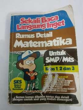 Buku sekali baca langsung ingat, rumus detail matematika untuk SMP/Mts