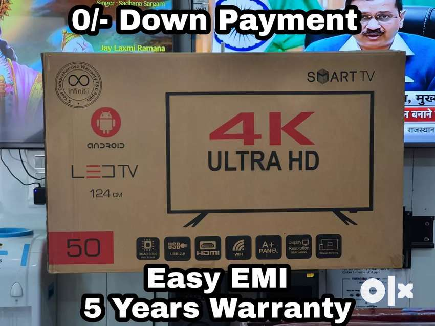"""Infinitii 50"""" UHD 4K SMART ANDROID LED TV - 5 Years Warranty 0"""