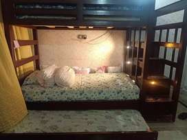 Double bed with slider , lights and drawers