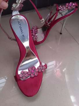 Pink high heels.(4 inches)