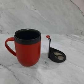 Smart Cafe Hot Mug Coffee Plunger with Lid SEBASTIAN CONRAN Gelas Kopi
