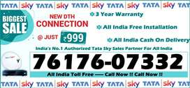 Tata Sky DTH Connection- D2h Videocon Tatasky Dish TV Airteltv - COD
