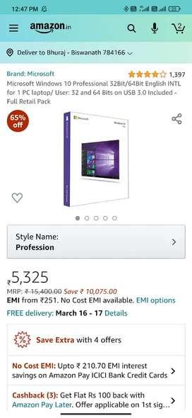 Unused Microsoft Windows 10 Professional Retail Product Key (lifetime)