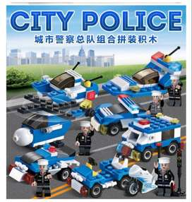 8 in 1 City Police Series 358 Pieces toy brick 8 boxes sets