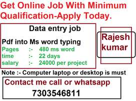 Simple home based job Simple work to get big amt Get 100 % payment