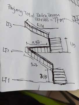 Railling tangga stainless
