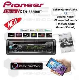 Pioneer DEH-S5250BT Bluetooth Single Din Tape Mobil Audio DEH S5250 BT