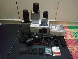 Canon 60 D (Full Lengkap) plus 4 Lensa