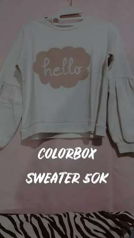 SWETER WHITE COLORBOX