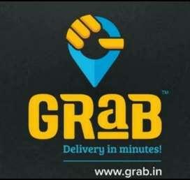 Grab delivery boy in Big bazar Belly road