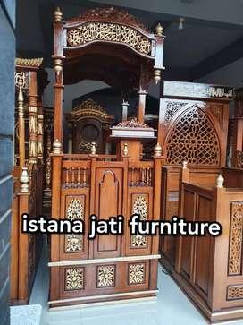 Mimbar masjid kubah jati mimbar elegan model terbaru