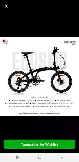 Sepeda Lipat Folding Bike 20 inch Element Ecosmo Police 11 Speed