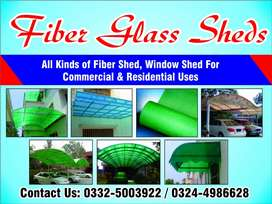 Fiber Glass works ( sheds & sheets)  &  Green Net