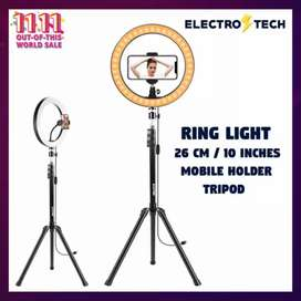 Ring Light 26cm/10 inch with 7.5ft Tripod Stand & Phone Holder