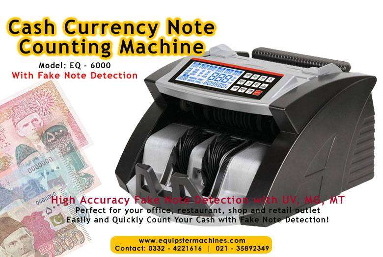 currency note cash counting machine with fake note detection pakistan
