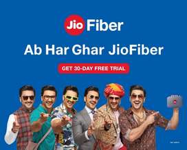 Jio fiber broadband internet &calling unlimited