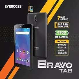 PROMO Tab BRAVO 3/32 BNIB grs resmi Evercoss 1th cod Bdg kota FreeOngk