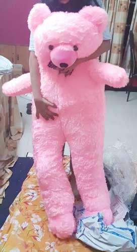 5 feet pink teddy