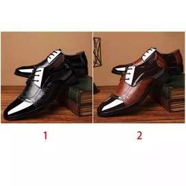 Sepatu Pantofel Bisnis Bahan Kulit Ukuran Besar untuk Pria