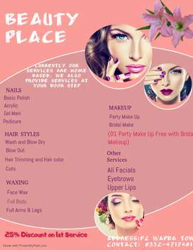 Makeup services by female makeup artist