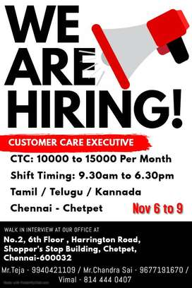 Urgent Required Kannada Telecallers