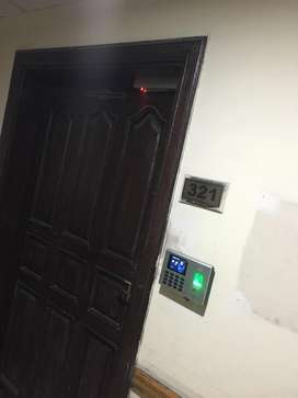 Biometric attendance and access control door lock system with installa