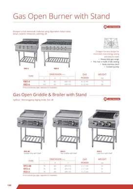 GETRA oven gas open griddle stand  》 bisa di kredit kak