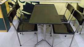 SS with Granite / Wood Dining table set