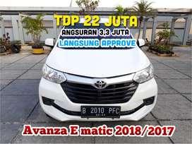 Toyota Avanza E Matic AT 2018/2017,TDP 22 JT angs.3,3JT paket murah
