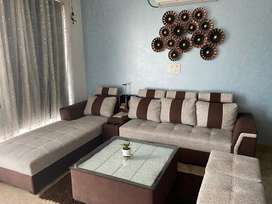 8 seater sofa set with glass top cetre table for sale