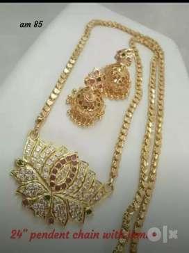 Imbon dollar chain with earing