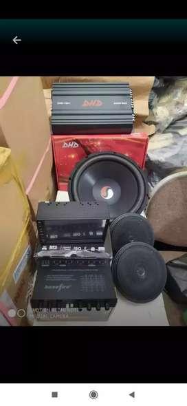 Tv mp 5 + power + sub + speaker + pream