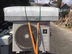 AC sharp 1/2 PK inverter 300w normal jaya dingin istimewa plus pasang