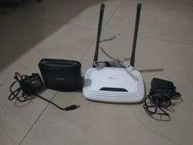 1 D Link router+ 1 TP link router