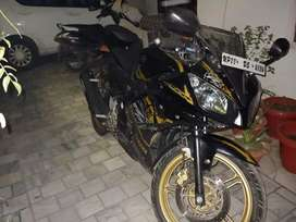 Yamaha R15 Special Edition with golden rims.