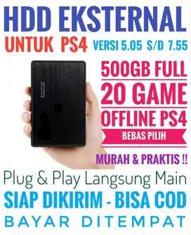 HDD 500GB Bonus 20 Game PS4 Mrh Meriah Harganya Bebas Pilih