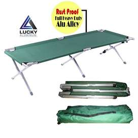 Aluminium Outdoor Folding Bed Camping With Frame At LuckyHome.PK