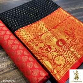 Aagyeyi Pretty Sarees  Saree Fabric: Cotton Silk(SareeLengthSize:5.5m,