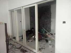 Pintu jendela kusen aluminium, pintu kasa nyamuk, pintu kaca gresik