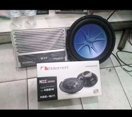 Paket Salon. Power ADS 4 channel + Sub ADS + Speaker Nakamichi