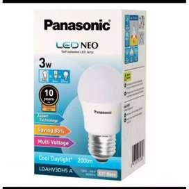 Lampu led Panasonic 3 watt, ECO warna putih terang