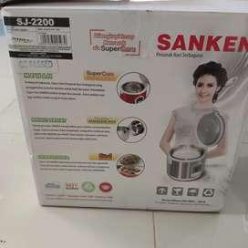 Sanken Magic Com Rice Cooker 1.8 Liter Stainless - SJ2200