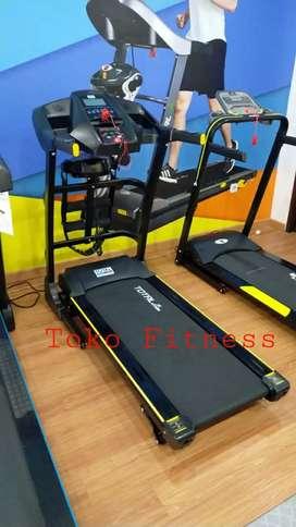 Treadmill elektrik / TL 636 / Alat fitness 3 fungsi