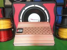 Paket Audio Subwoofer Nakamichi VS Power NERO High mosfet + pemasangan