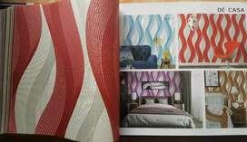 Wallpaper vinyl polos harga termasuk pemasangan