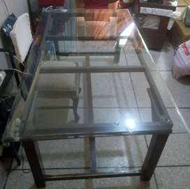 8 seater glass table available