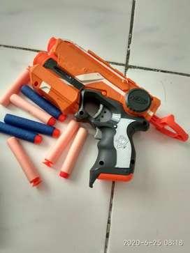 nerf fire strike + 8 peluru murah ada laser