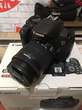 Kamera Canon 700D Kit 18:55mm Is II Fullset Mulus 100% Garansi