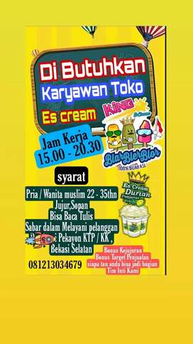 Penjaga Toko Es cream